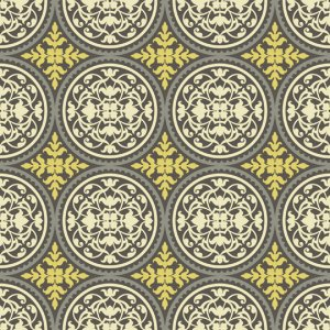 Joel Dewberry Aviary 2 Fabric - Scrollwork - Granite