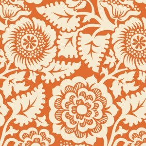 Joel Dewberry Heirloom Fabric - Blockade Blossom - Amber