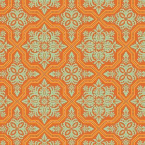 Joel Dewberry Heirloom Fabric - Tile Flourish - Amber