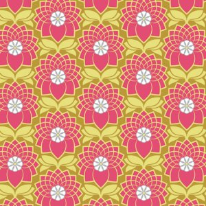 Joel Dewberry Heirloom Fabric - Chrysanthemum - Blush