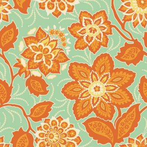 Joel Dewberry Heirloom Fabric - Ornate Floral - Amber