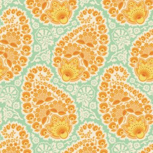 Joel Dewberry Heirloom Fabric - Paisley - Amber