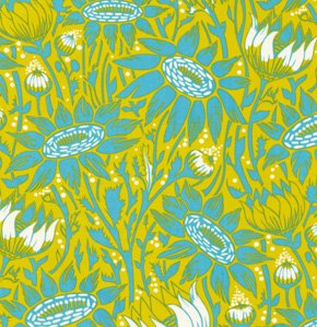 Anna Maria Horner Loulouthi Fabric - Coreopsis - Lime