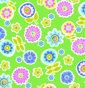 Erin McMorris Greenhouse Flannel Fabric - Backyard - Grass