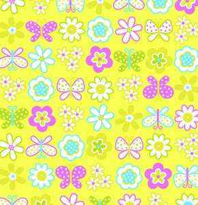 Erin McMorris Greenhouse Flannel Fabric - Backyard Garden - Citron