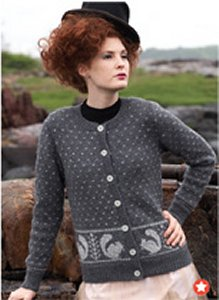 Berroco Ultra Alpaca Squirrel Cardigan Kit - Women's Cardigans