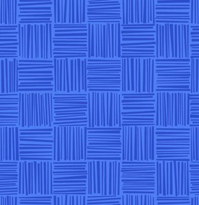 Erin McMorris Greenhouse Flannel Fabric - Basketweave - Royal