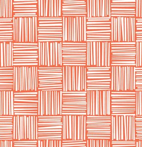 Erin McMorris Greenhouse Flannel Fabric - Basketweave - Tomato