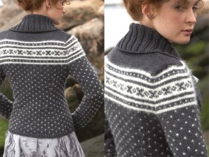 Debbie Bliss Cashmerino Aran and Angel Nordic Cardigan Kit - Women's Cardigans
