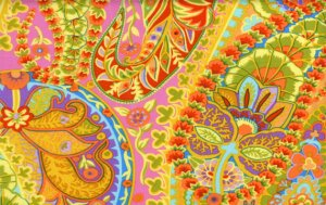 Kaffe Fassett Paisley Jungle Fabric - Lime