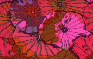 Kaffe Fassett Lotus Leaf Fabric - Wine