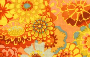 Kaffe Fassett Asian Circles Fabric - Orange