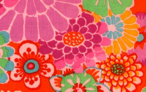 Kaffe Fassett Asian Circles Fabric - Tomato