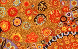 Kaffe Fassett Millefiore Fabric - Brown