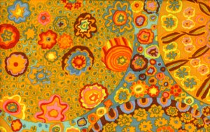 Kaffe Fassett Millefiore Fabric - Orange