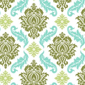 Joel Dewberry Aviary 2 Fabric - Damask - Dill