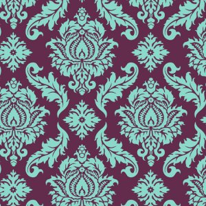 Joel Dewberry Aviary 2 Fabric - Damask - Plum