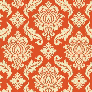 Joel Dewberry Aviary 2 Fabric - Damask - Saffron