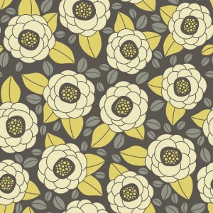 Joel Dewberry Aviary 2 Fabric - Bloom - Granite