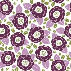 Joel Dewberry Aviary 2 Fabric - Bloom - Lilac