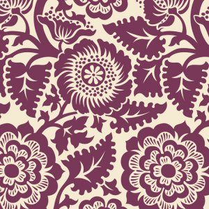 Joel Dewberry Heirloom Fabric - Blockade Blossom - Amethyst