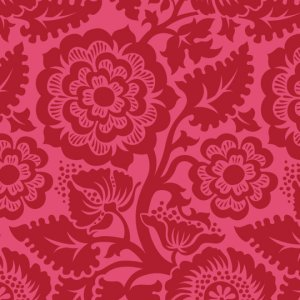 Joel Dewberry Heirloom Fabric - Blockade Blossom - Crimson