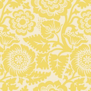 Joel Dewberry Heirloom Fabric - Blockade Blossom - Dandelion
