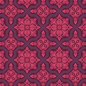 Joel Dewberry Heirloom Fabric - Tile Flourish - Garnet