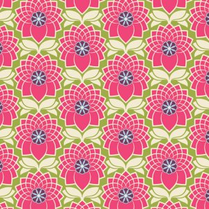 Joel Dewberry Heirloom Fabric - Chrysanthemum - Chrysanthemum