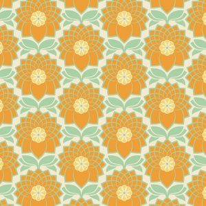 Joel Dewberry Heirloom Fabric - Chrysanthemum - Jade