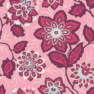 Joel Dewberry Heirloom Fabric - Ornate Floral - Amethyst