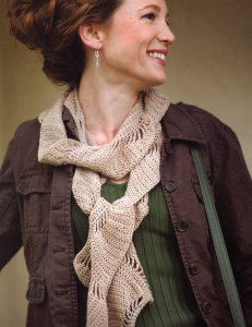 Lorna's Laces Shepherd Sock Boteh Scarf Kit - Crochet for Adults