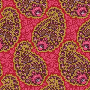 Joel Dewberry Heirloom Fabric - Paisley - Garnet