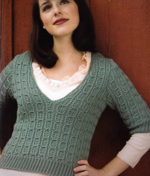 Cascade 220 Superwash Luna Sweater Kit - Crochet for Adults