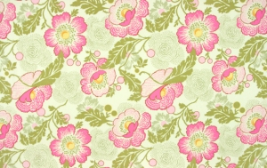 Amy Butler Midwest Modern Fabric - Fresh Poppies - Fuchsia