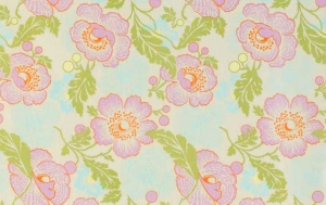 Amy Butler Midwest Modern Fabric - Fresh Poppies - Ivory