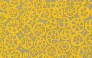 Brandon Mably Macaroni Fabric - Mustard