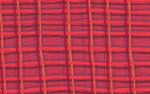 Brandon Mably Plaid Fabric - Red