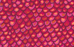 Brandon Mably Shingles Fabric - Magenta