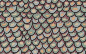 Brandon Mably Shingles Fabric - Green