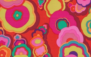 Kaffe Fassett Kite Tails Fabric - Red