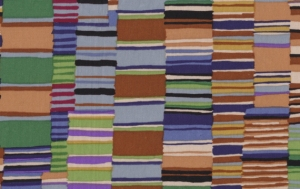 Kaffe Fassett Shirt Stripes Fabric - Brown