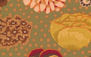 Kaffe Fassett Big Blooms Fabric - Brown