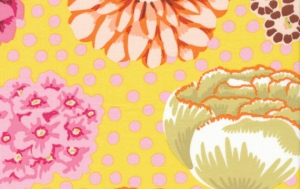 Kaffe Fassett Big Blooms Fabric - Yellow