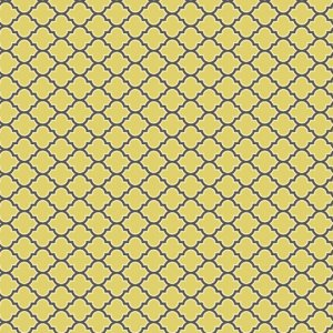 Joel Dewberry Aviary 2 Fabric - Lodge Lattice - Vintage Yellow