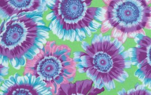Philip Jacobs Painted Daisies Fabric - Pink