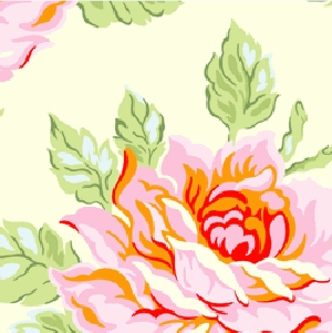 Heather Bailey Nicey Jane Fabric - Hello Roses - Cream