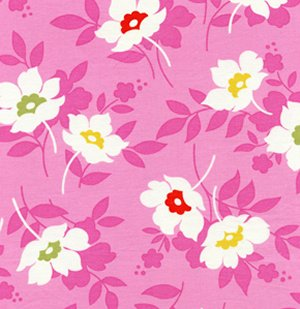Heather Bailey Nicey Jane Fabric - Swing Toss - Pink