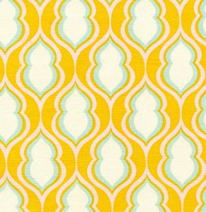 Heather Bailey Nicey Jane Fabric - Pocketbook - Tangerine