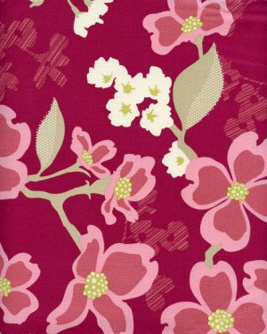 Joel Dewberry Modern Meadow Fabric - Dogwood Bloom - Berry